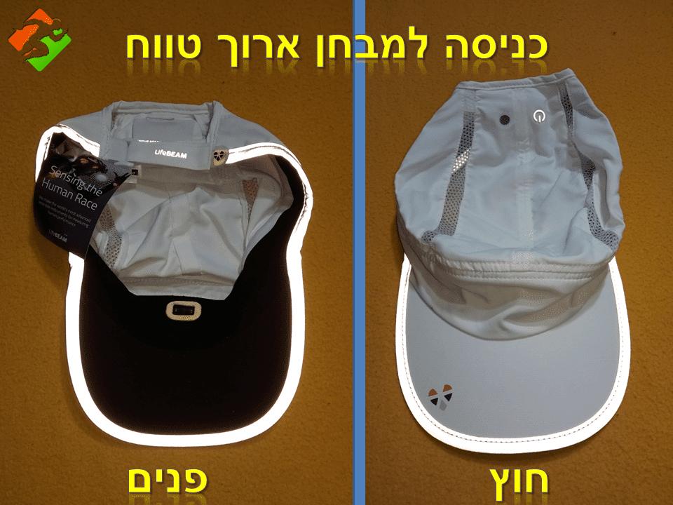 כניסה למבחן ארוך טווח – כובע Lifebeam Smart Hat