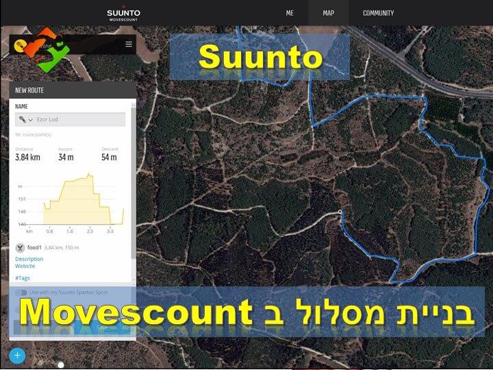 סונטו - בניית מסלול ב Movescount