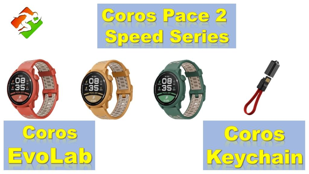 Coros Pace 2 Speed Series | מטען EvoLab | Keychain